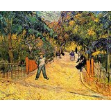 Van Gogh - Entrance To The Public Park In Arles Printed Painting