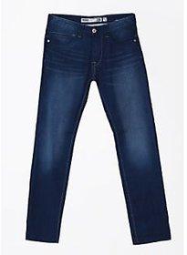 Indigo Jeanscode Men's 100% Cotton  Slim Fit Blue Jeans