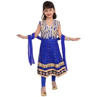 Ethnic Designer Kids Girl Anarkali Salwar Kameez Dress embroidered suit