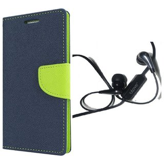 Wallet Dairy Flip Cover For Asus Zenfone 5 With Free Champ Wired Handsfree