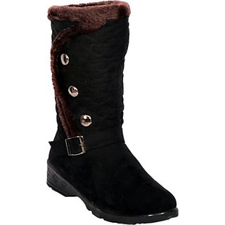 QUIANZIYUN Black Ladies Boots