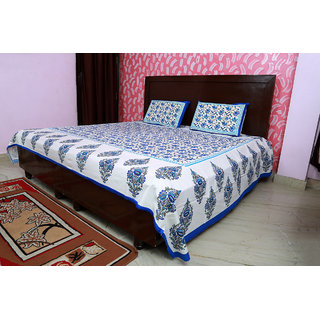Special of rajasthani printed cotton double bed sheet