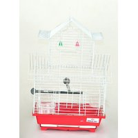Pet Club51 HIGH QUALITY PET BIRD CAGE FINCH DOUBLE FLOOR  CAGES -RED AND WHITE
