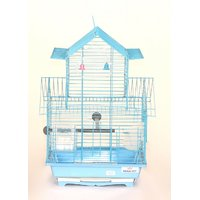 Pet Club51 HIGH QUALITY PET BIRD CAGE FINCH DOUBLE FLOOR CAGES -SKU BLUE