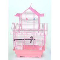 Pet Club51 HIGH QUALITY PET BIRD CAGE FINCH DOUBLE FLOOR CAGES -PINK