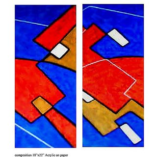 Abstract painting composition