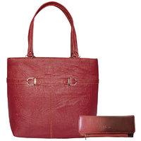 Bueva MAROON (N2BKLE) Trendy And Stylish Hand Bag And C