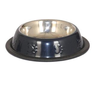 PET CLUB51 STANDARD DOG FOOD BOWL -BLACK-EXTRA SMALL