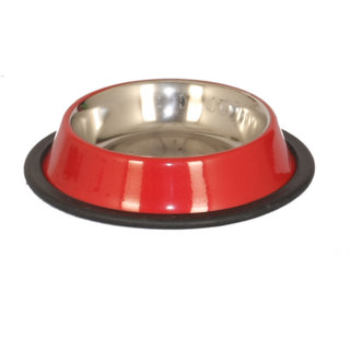 PET CLUB51 STANDARD DOG FOOD BOWL -RED-EXTRA SMALL