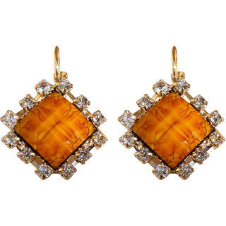Trendy Brown Colour Dangle and Drop Earrings - 10021.8