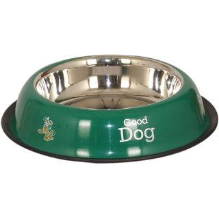PET CLUB51 STANDARD DOG FOOD BOWL -GREEN-SMALL