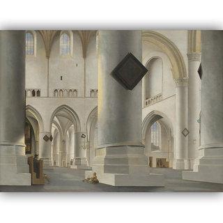 Vitalwalls Grote Kerk Interior Canvas Art Print - Wooden FrameClassical-013-F-30cm