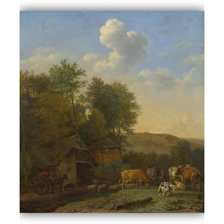 Vitalwalls A Landscape Canvas Art Print on Wooden FrameClassical-016-F-60cm
