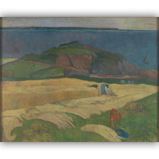 Vitalwalls Harvest Le Pouldu By Paul Gauguin Canvas Art Print.Classical-021-60cm