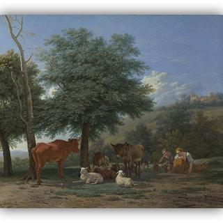 Vitalwalls Farm Animals Canvas Art Print on Wooden FrameClassical-036-F-45cm