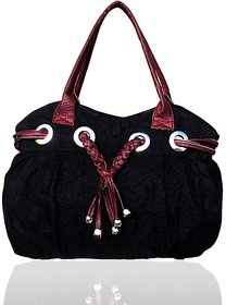 Redfort Black Casual Crush Bag