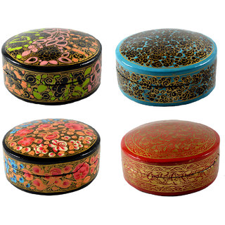 Craftuno Handcrafted Paper Mache Box - Set of 4