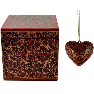 Craftuno Handcrafted Paper Mache Box  Heart Set