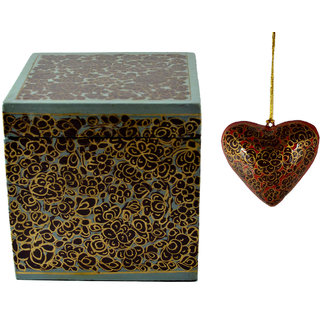 Craftuno Handcrafted Paper Mache Box  Heart Set