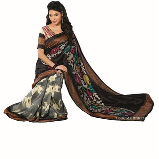 Raw Silk Saree-Black-SUT11960-VM-Art Silk, Georgette, Silk