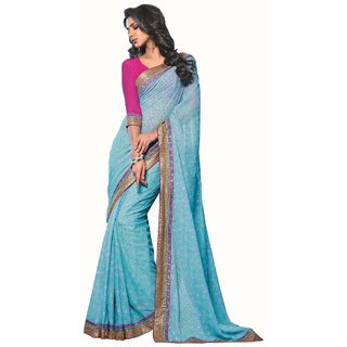 Raw Silk Saree-Blue-SUT2981-VM-Art Silk, Georgette, Silk