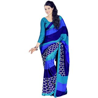 VINAMRA SILK DESIGN SAREE COLLECTIONS-Multicolor-VCS5138-VN-Crepe, Synthetic