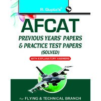 Afcat (Air Force Common Admission Test) Previous Years Papers  Practice Test Papers (Solved)