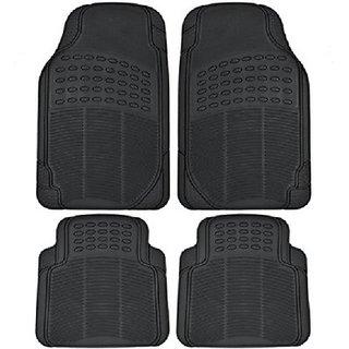 Autostark Black Rubber Floor / Foot Honda Amaze Car Mat Honda Amaze (Black)
