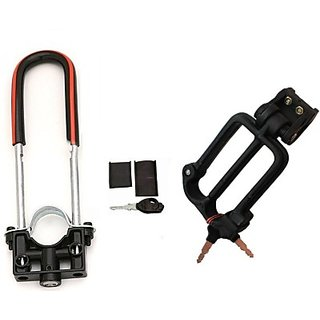 Autostark Bike Front Shocker Lock With Helmet Lock- Ktm Rc 200 Combo