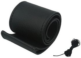 Autostark Steering Cover For Maruti Omni (Black, Leatherite)