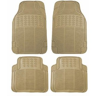 Autostark Rubber Floor / Foot Car Mat Tata Indica Vista (Beige)