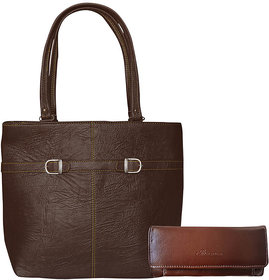 Bueva BROWN (N2BKLE) Trendy And Stylish Hand Bag And Cl