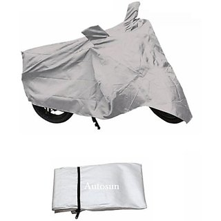 Autostark Imported Fabric Bajaj Discover 150S Two Wheeler Cover (Silver)