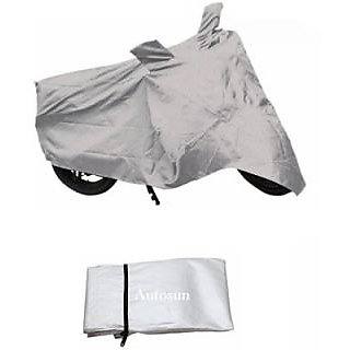 Autostark Imported Fabric Suzuki Hayate Two Wheeler Cover (Silver)