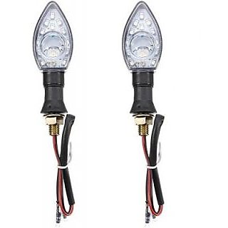 Autostark Motorcycle Round Lens White Brl-38 Bajaj Platina Led Indicator Light (White Pack Of 2)