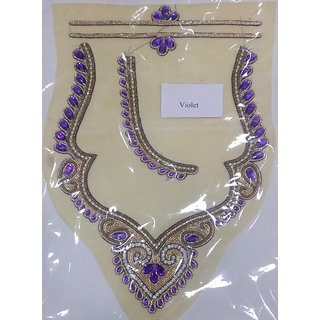 Readymade Embroidered Blouse Neck Design Patches For Blouses