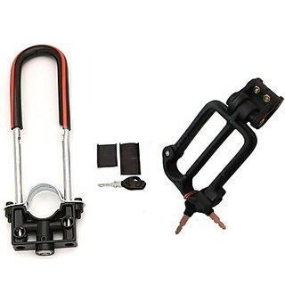Autostark Scooty Front Shocker Lock With Helmet Lock- Mahindra Rodeo Rz Combo
