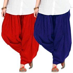 Combo - Red n Blue Full Patiala Salwar