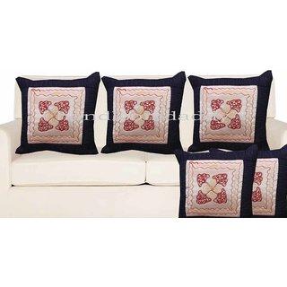 Handloomdaddy Patch Design Cushion Cover(set Of 5 Pcs)cvr140