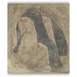 Vitalwalls - Portrait - Canvas Art Print On Wooden Frame Religion-026-F-45Cm