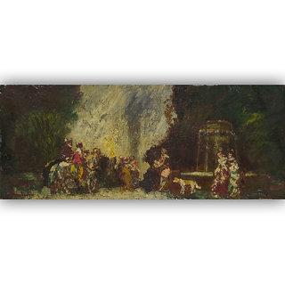 Vitalwalls - Portrait Painting -Premium Canvas Art Print Religion-031-60Cm