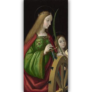 Vitalwalls - Portrait - Canvas Art Print On Wooden Frame Religion-068-F-60Cm