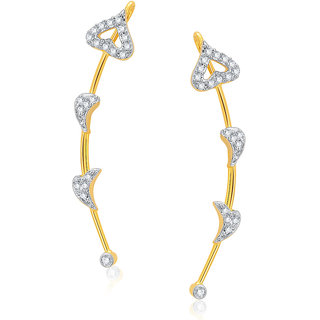Sukkhi Resplendent Gold and Rhodium Plated CZ Earcuff For Women