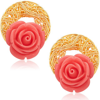 Sukkhi Gold Plated  Gold Studs For Women