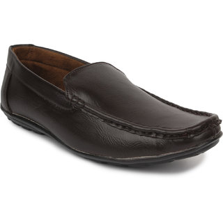 Artificial Leather Men Brown oxer loafers
