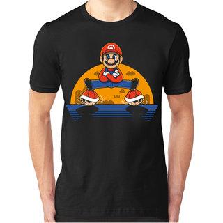 Foscous Black Color MenS Printed Cotton T-Shirt - Plumber Split