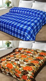 k decor set of 2 double bed blanket(kd-017)
