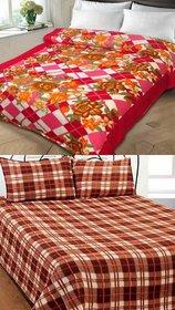 k decor set of 2 double bed blanket(kd-016)