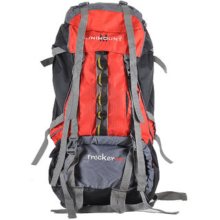 Unimount Red  Grey 90 Ltrs. Polyster Rucksack Bags