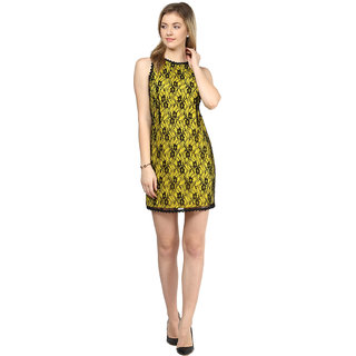 Buy Ly2 Yellow And Black Color Western Wear For Smart Casual And